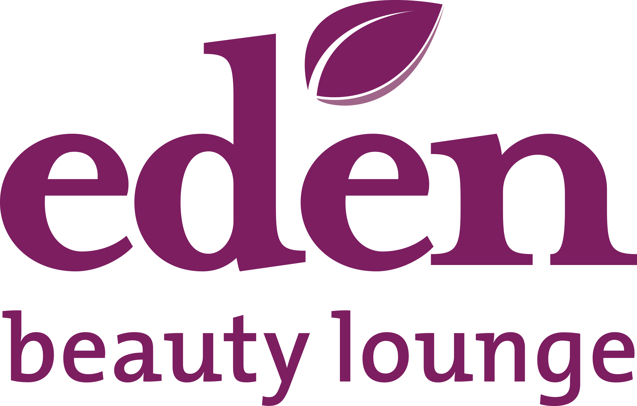 Logo eden beauty lounge